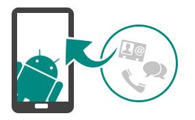 Gendan kontakter, meddelelser og opkaldslogger