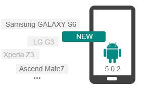 Understøtt de nyeste Android Devkices og OS