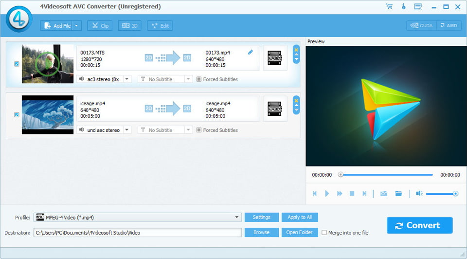 Click to view 4Videosoft AVC Converter screenshots