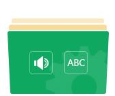 Definujte zvukovou stopu, titulky a menu