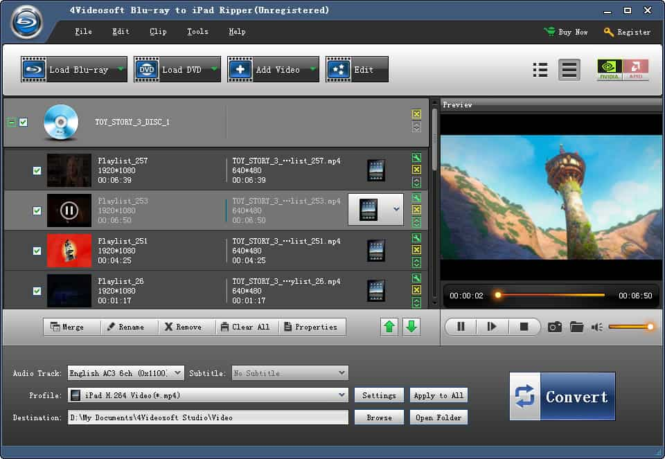 4Videosoft Blu-ray to iPad Ripper