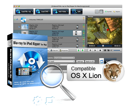 Mac Blu-ray to iPod Converter