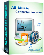 4Videosoft All Music Converter for Mac boxshot