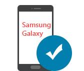 Dispositivos Samsung Galaxy altamente compatibles