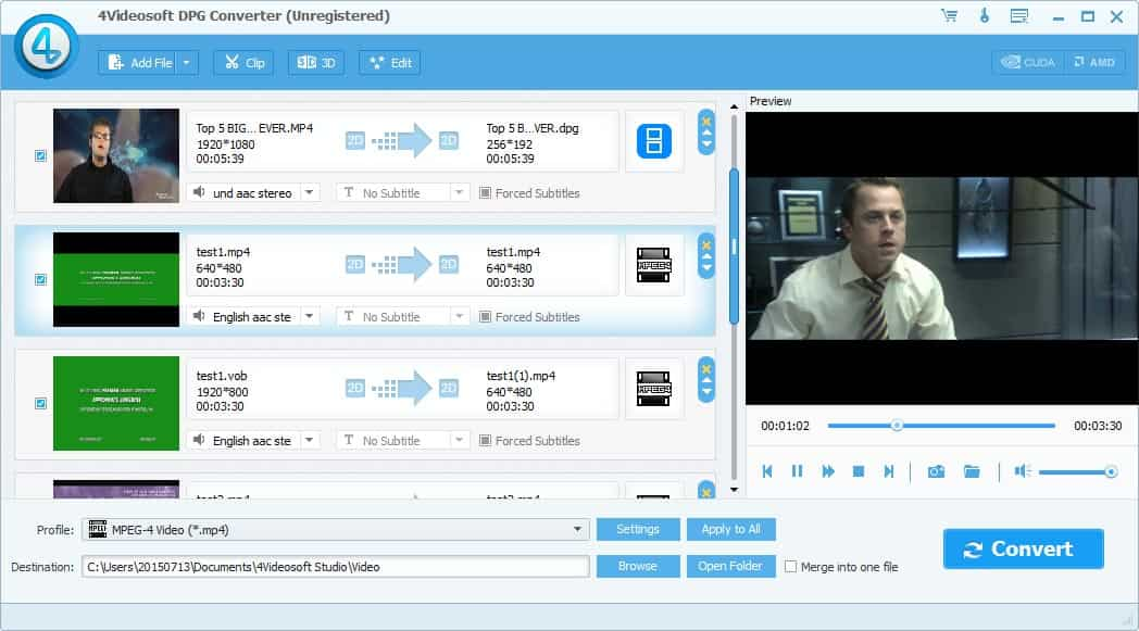4Videosoft DPG Converter Screen shot