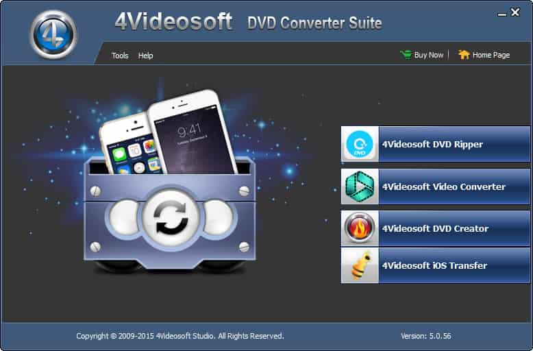 4Videosoft DVD Converter Suite Screen shot
