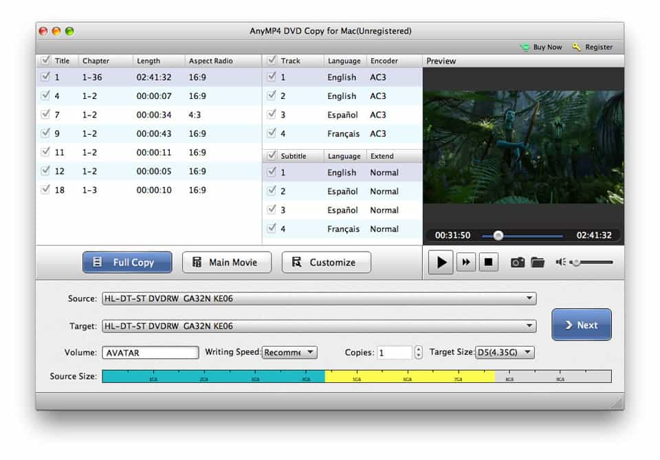 4Videosoft DVD Copy for Mac Screen shot