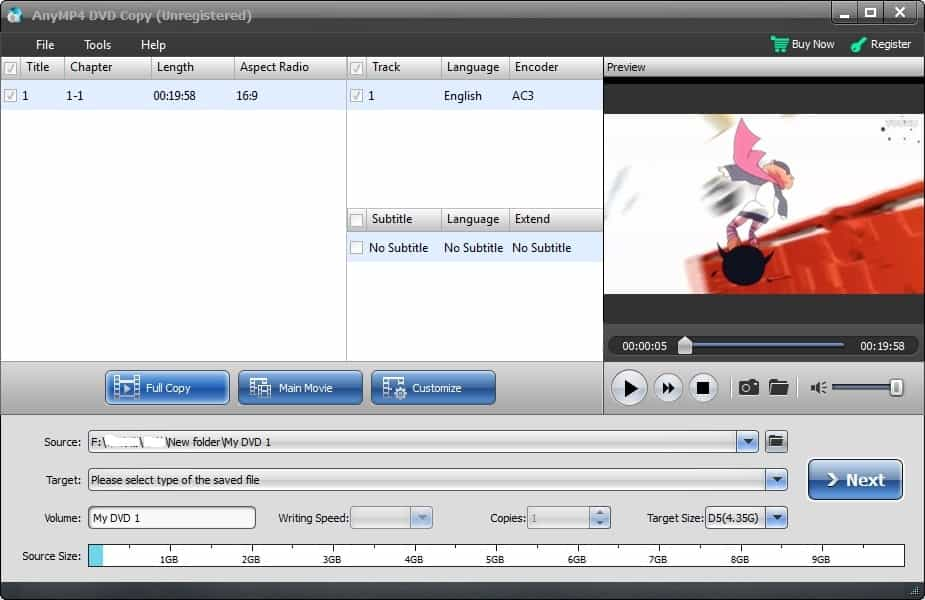 4Videosoft DVD Copy Screen shot