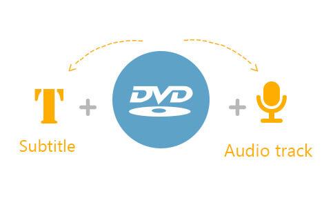 Fügen Sie die gewünschte Audiospur und Untertitel frei hinzu