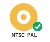 支持不同的電視標準,如NTSC或PAL