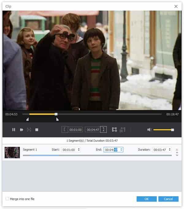 Trim DVD længde