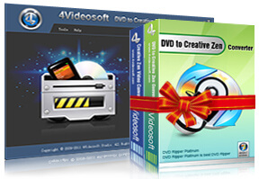 DVD to Creative Zen Suite purchase