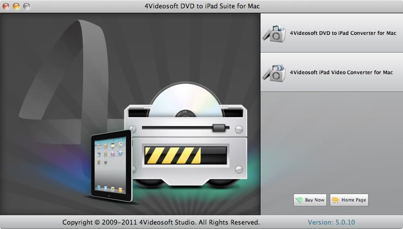 4Videosoft DVD to iPad Suite for Mac screenshot