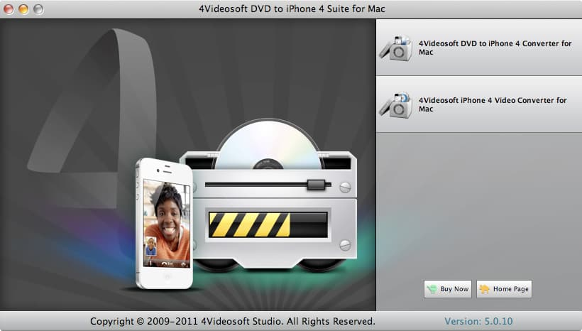 4Videosoft DVD to iPhone 4 Suite for Mac 3.1.28