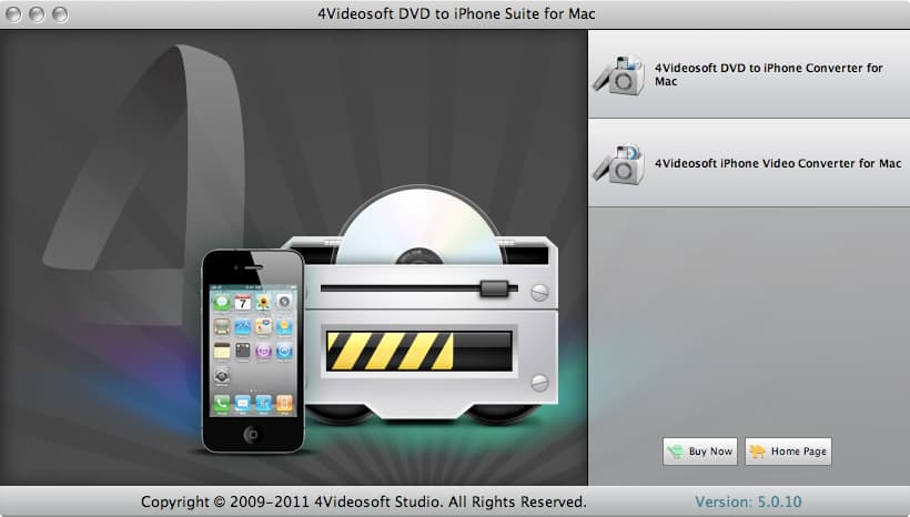 4Videosoft DVD to iPhone Suite for Mac