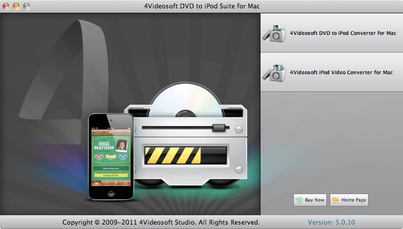 4Videosoft DVD to iPod Suite for Mac - DVD to iPod Mac, Mac iPod Converter, convert DVD to iPod Mac, convert video to i - 4Videosoft DVD to iPod Suite for Mac is the best iPod Converter Mac software.