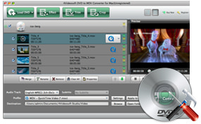 DVD to MOV converter Mac Settings
