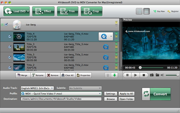 DVD to MOV Converter for Mac