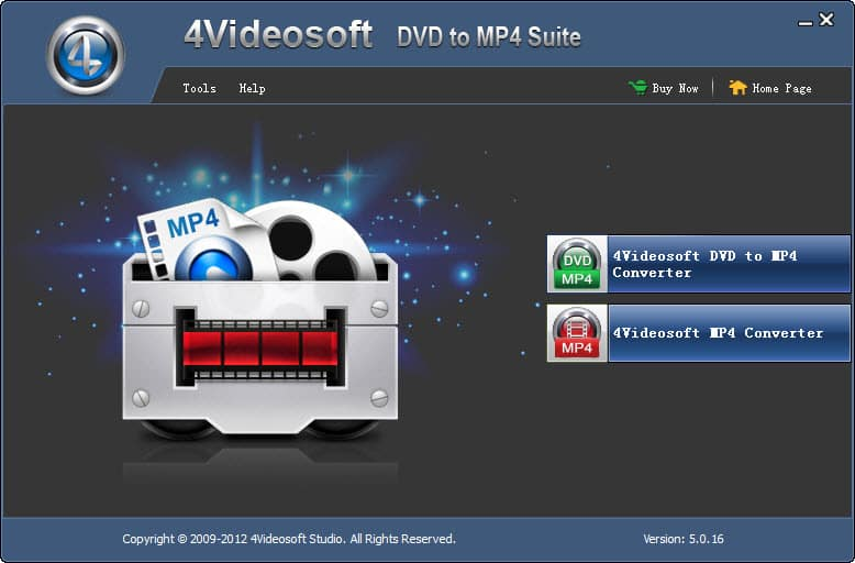 Convert any DVD and video file to the video MP4 and audio compatible with MP4.