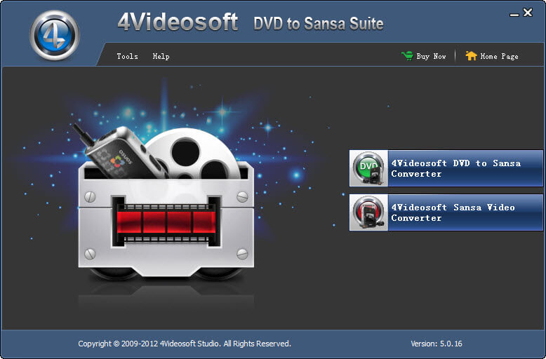Click to view 4Videosoft DVD to Sansa Suite screenshots