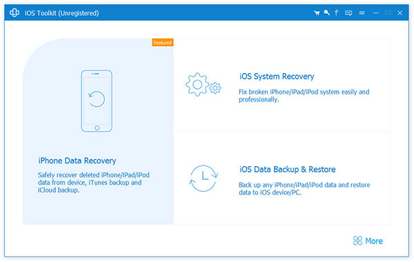 iOS Data Recovery的界面
