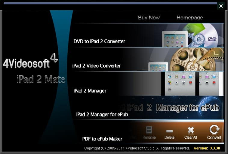 4Videosoft iPad 2 Mate screenshot