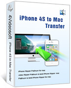 4Videosoft iPhone 4S to Mac Transfer boxshot