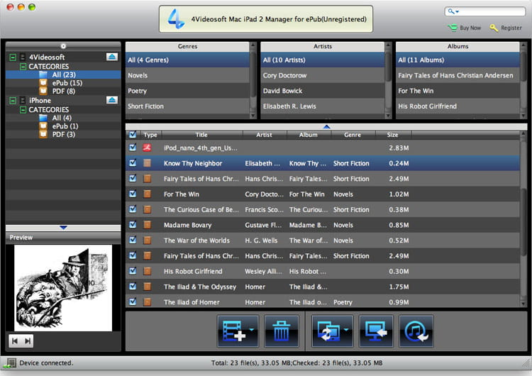 4Videosoft Mac iPad 2 Manager for ePub