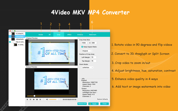 convert mkv to mp4 mac free