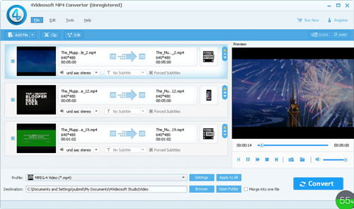 Click to View Full Screenshot4Videosoft MP4 Converter 5.2.62 screenshot