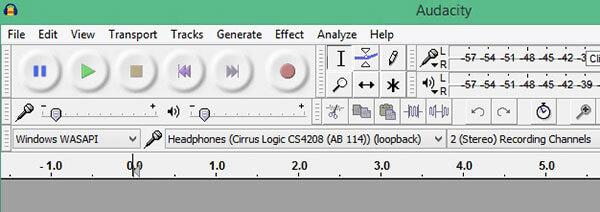 Enregistrer l'audio sur Audacity Windows Wasapi