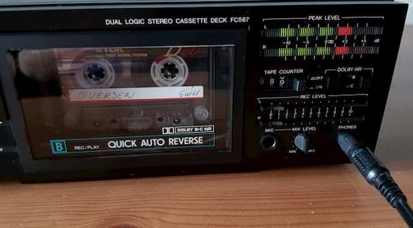 Connect cassette deck to computer