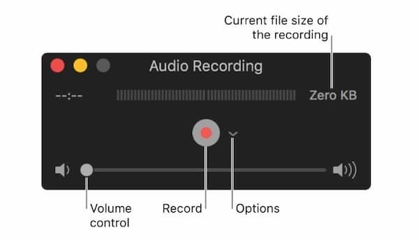 Enregistrer l'audio Quicktime