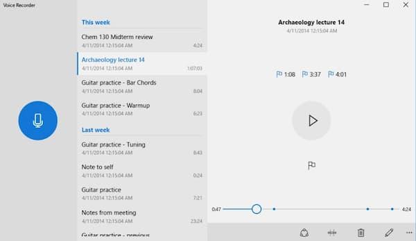 Enregistrement audio enregistreur vocal Windows