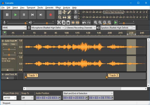 Audacity Enregistrement Audio Internet