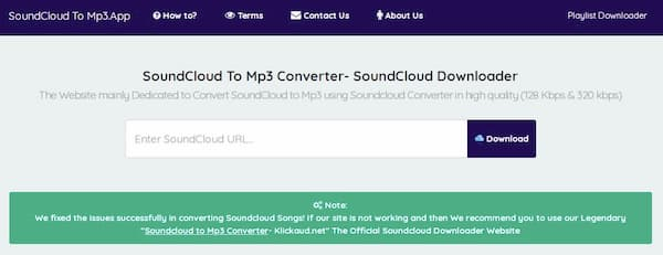 Soundcloud To MP3 App