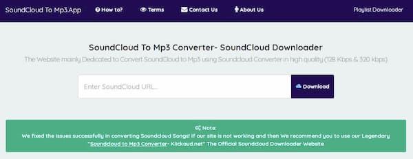 Application Soundcloud vers MP3