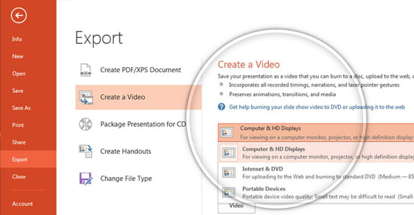 Export Powerpoint Video PPT 2013