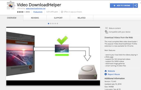 Aide pour le téléchargement de vidéos Chrome