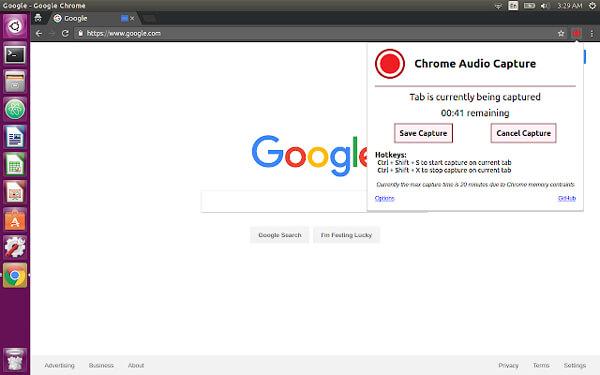 Plug-in Chrome Aduio Capture