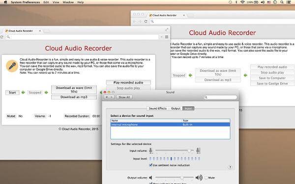 Enregistreur audio cloud