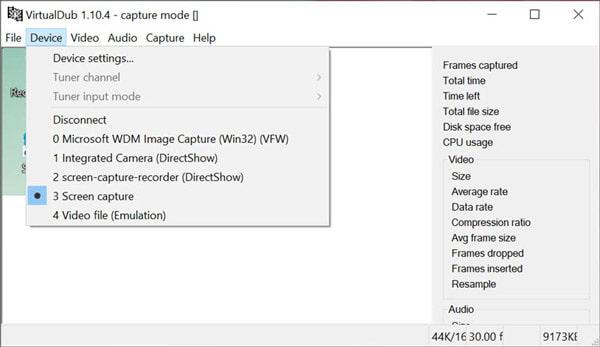 Enregistreur d'écran Open Source Virtualdub