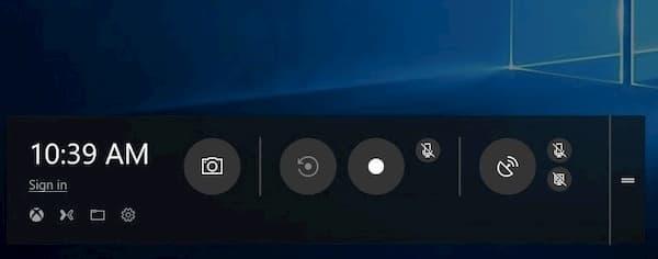 Barre de jeu Windows 10