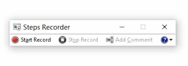 Ouvrez Windows Steps Recorder