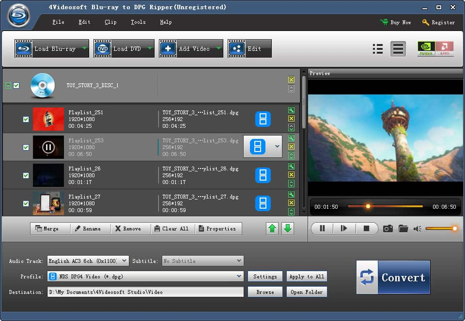 4Videosoft Blu-ray to DPG Ripper screenshot