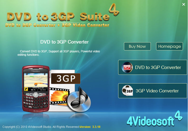Click to view 4Videosoft DVD to 3GP Suite 3.2.06 screenshot
