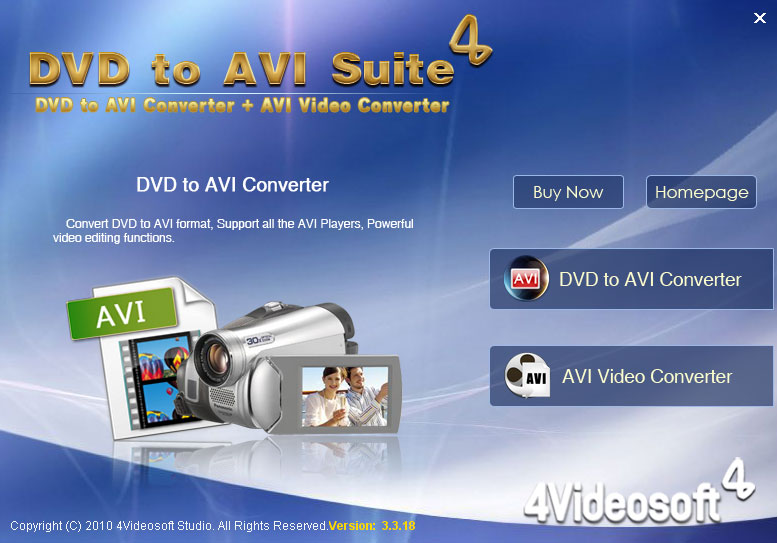 Click to view 4Videosoft DVD to AVI Suite screenshots