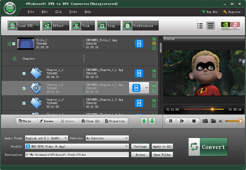 Click to view 4Videosoft DVD to DPG Converter screenshots