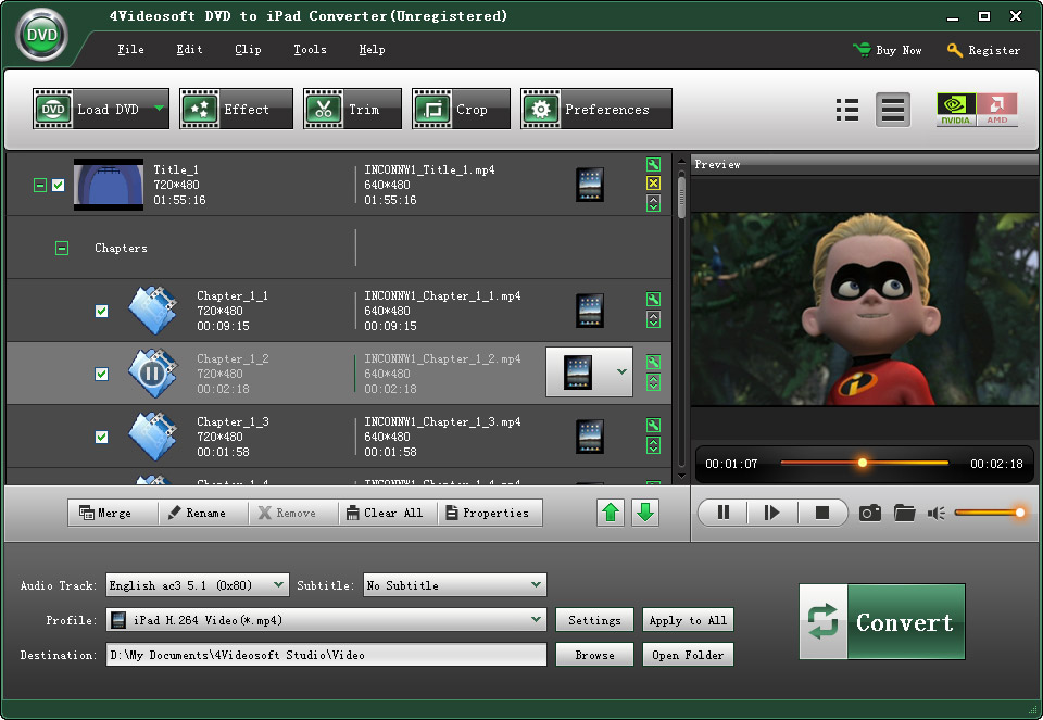 4Videosoft DVD to iPad Converter 4.0.02