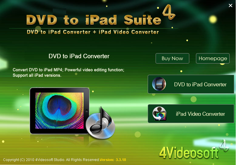 4Videosoft DVD to iPad Suite 4.0.06
